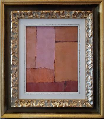 """""""Il dubbio"""" con esempio di cornice - tecnica mista su tavola, cm. 20 x 35 - € 100"""