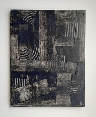 """""""Concealment"""", acrilico e cera su faesite, cm. 35 x 45 - € 320"""