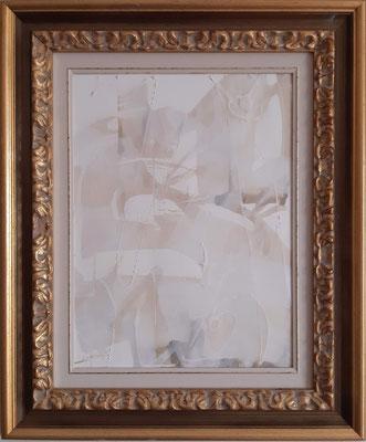 """""""Dream in white 1"""" – tecnica mista su carta, cm. 30 x 40 - € 150"""