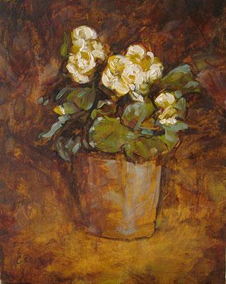 """""""Piccoli fiori"""" - olio su cartone telato, cm. 24 x 30 - € 70,00"""