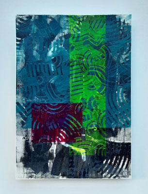 """Friendship"", tecnica mista su carta Canson 300 g/mq, cm. 29,7 x 42 – € 250"