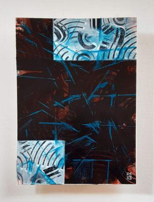 """Glows"", tecnica mista su carta Arches, cm. 26 x 36 – € 250"