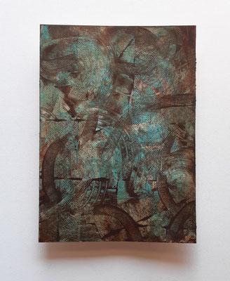 """""""Looming threat"""", acrilico su carta Arches 300 g/mq, cm. 26 x 36 - € 250"""