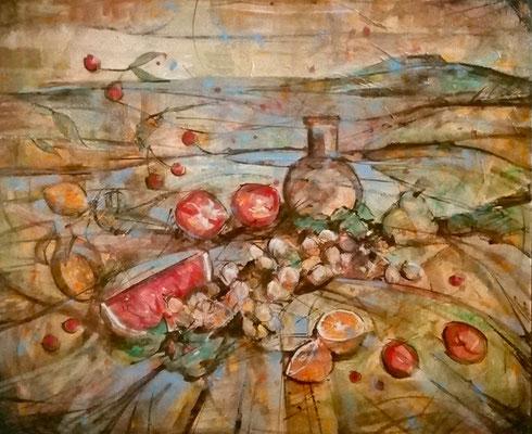 """Capriccio"" - tecnica mista su tela, cm. 50 x 60 - € 200,00"