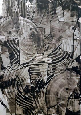 """""""Monochrome black"""", tecnica mista su carta Yupo, cm. 29,7 x 42 – € 250"""