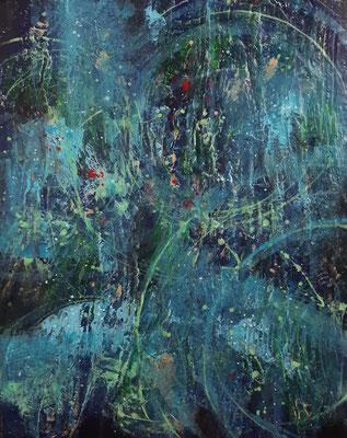 """""""La voce delle stelle"""" – acrilico su tela, cm. 40 x 50 - Pioltello (MI), collezione privata"""
