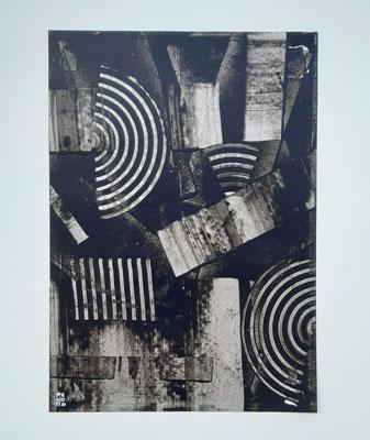 """""""Monochrome Adele"""", acrilico su carta Yupo 85 g/mq, cm. 29,7 x 42 – € 250"""