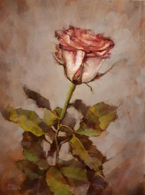 """""""La Rosa dell'amore filiale"""" - olio su tela, cm. 30 x 40 - € 250,00"""