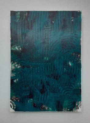 """The dip"", tecnica mista su carta Canson 300 g/mq, cm. 29,7 x 42 – € 250"