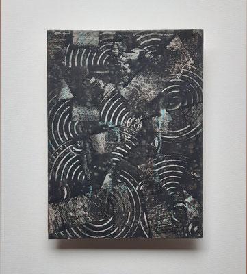 """""""For future reference"""", tecnica mista su carta Hahnemühle 600 g/mq, cm. 30 x 40 - € 250"""
