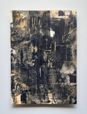 """""""The darkness will end"""", acrilico su carta Canson, cm. 29,7 x 42 – € 250"""