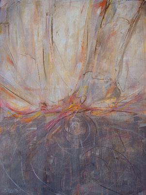 """""""Il seme"""", olio e cera fredda su tavola, cm. 50 x 60- € 250,00"""