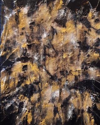 """""""Untitled"""", tecnica mista su tela, cm. 24 x 30 - Heers (Belgio), collezione privata"""