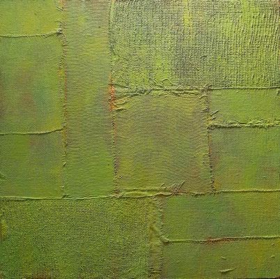 """""""In mezzo al giardino dell'Eden"""" - tecnica mista su tavola, cm. 30 x 30 - € 270"""