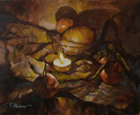 """""""Lume ed agrumi"""" - olio su tela, cm. 24 x 30 - € 120,00"""