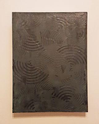 """""""Gray voices"""", tecnica mista su legno, cm. 30 x 40 - € 320"""