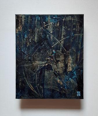 """""""Me lo confidò la luna"""", tecnica mista su tela, cm. 24 x 30 - € 280"""