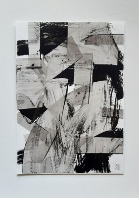 """Transparencies"", acrilico su carta Yupo 85 g/mq, cm. 29,7 x 42 – € 250"