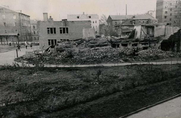 Бульдозеры сломали старые домишки. Остались развалины. Их надо было убрать. Спланировать территорию. Посадить сотни деревьев и тысячи кустов.