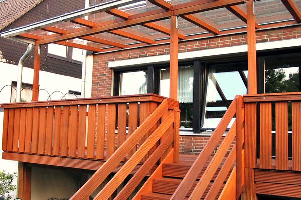 Tischlerei Großjohann, Holz Terrassenüberdachung