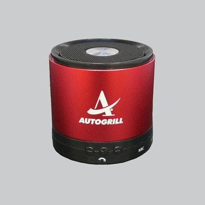 Bluetoothlautsprecher mit Gravur für Autogrill