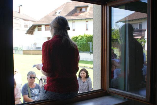 Sarah Rinderer / Fenster zum Hof-Literaturwanderung 2016