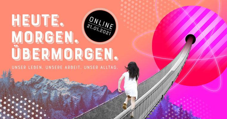 Graphic Recording Digital - Heute. Morgen. Übermorgen. - Online Konferenz - Offene Digitalisierungsallianz Pfalz