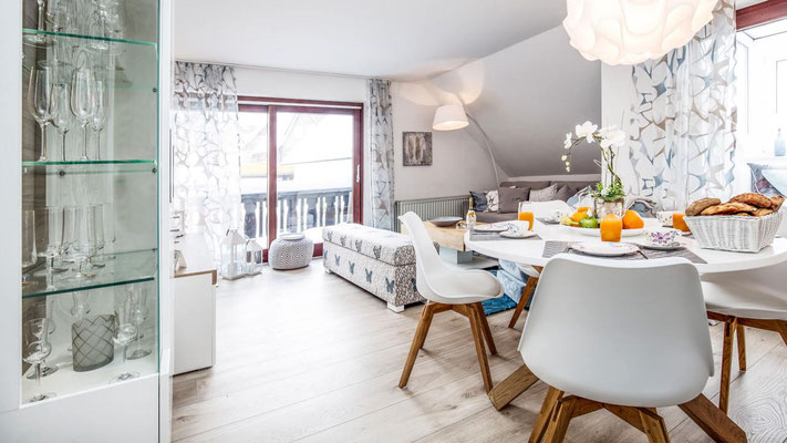 Wohnbereich der Ferienwohnung in Winterberg
