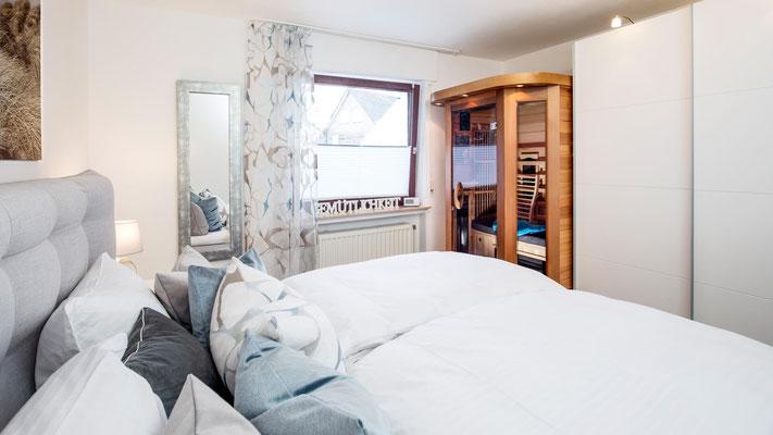 Infrarotsauna Schlafzimmer - Ferienwohnung Winterberg