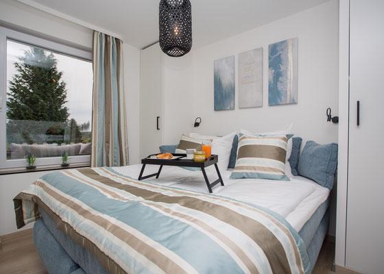 Schlafzimmer mit Fernsicht