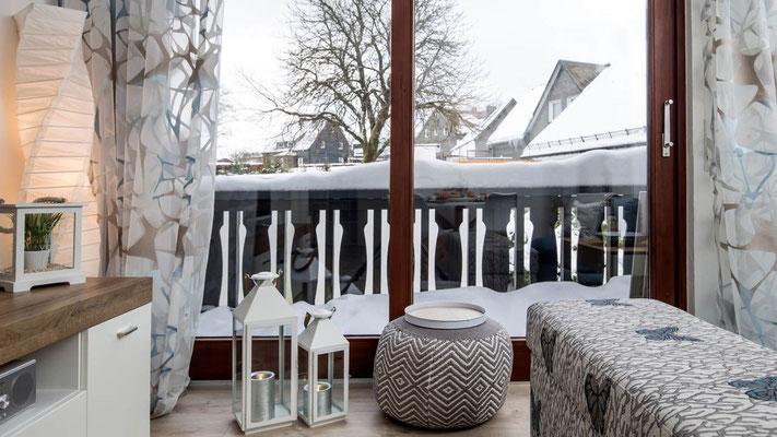 Balkon der Ferienwohnung Winterberg