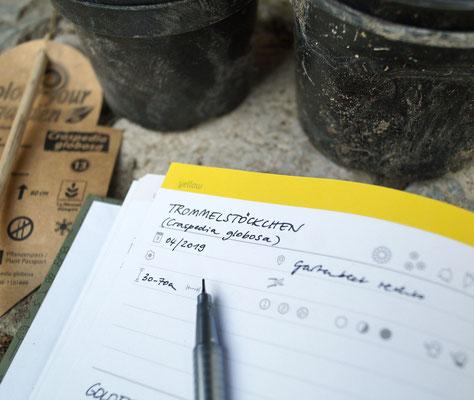 … Katalog für eigene Pflanzen,