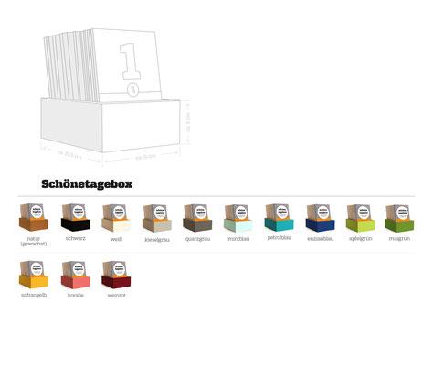 schönetagebox – Varianten ohne Deckel