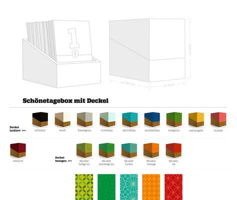 schönetagebox – Varianten mit Deckel