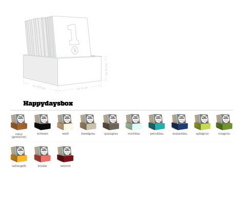 happydaysbox – Varianten ohne Deckel