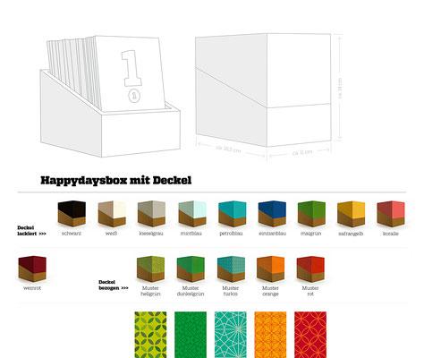happydaysbox – Varianten mit Deckel