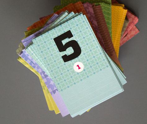366 Karten, jeder Monat in anderem Design
