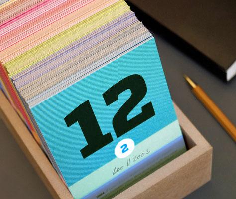 schönetagebox – immerwährender Kalender zum Momente merken und wieder finden