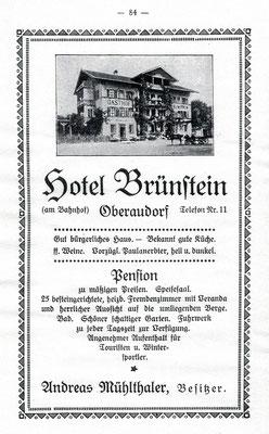 Anzeige aus dem Jahr 1937
