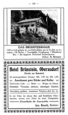 Anzeige aus dem Jahr 1914