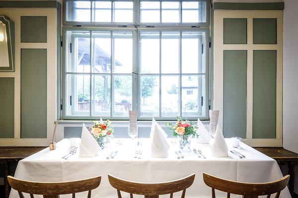 Gasthaus zum Brünnstein Oberaudorf Hochzeit hier für 50 Personen bestuhlt