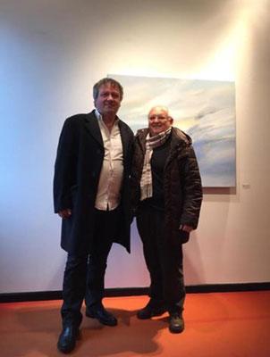 """Tullio Tramontina, CEO della Graphistudio, in visita alla mia personale """"I viaggi dell'anima""""  a Palazzo d'Attimis - Maniago (PN)"""