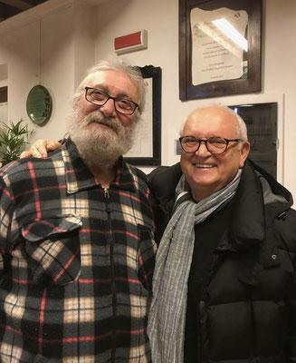 Con l'amico il maestro Giulio Belluz