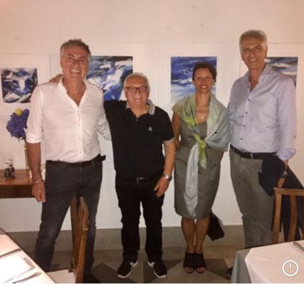 Visita a Villa Policreti  di Enzo Piazza con la gentile consorte Elisabetta e Maurizio Corazza con il figlio Mauro , titolari della Graphistudio