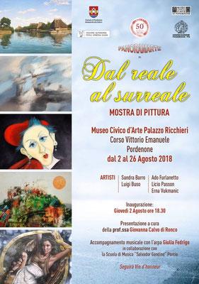 """Mostra Collettiva  """"Dal Reale al Surreale"""" - Museo Civico di Pordenone- Palazzo Ricchieri"""