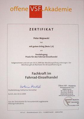 Zertifizierte Fahrradfachkraft in Cuxhaven