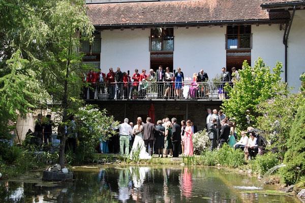 am malerischen Mühle-Teich.