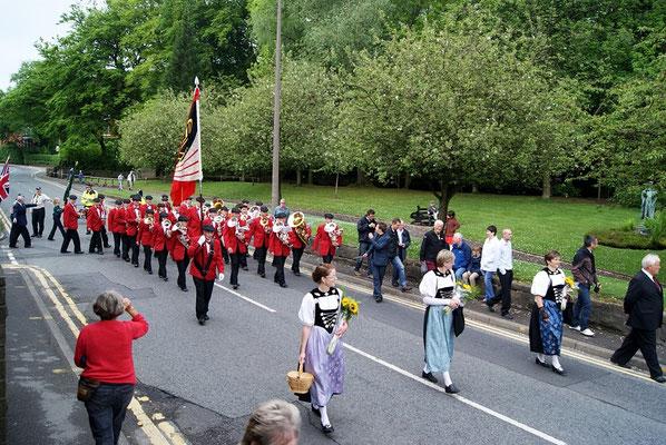 Aufmarsch zur Prozession