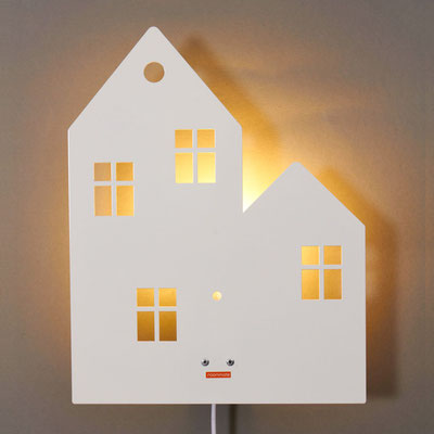 Roommate Wandlampe Haus Metall weiss