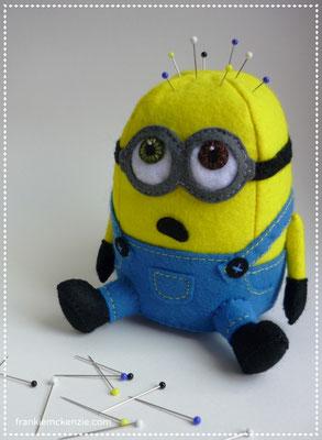 Minion Bob felt pincushion
